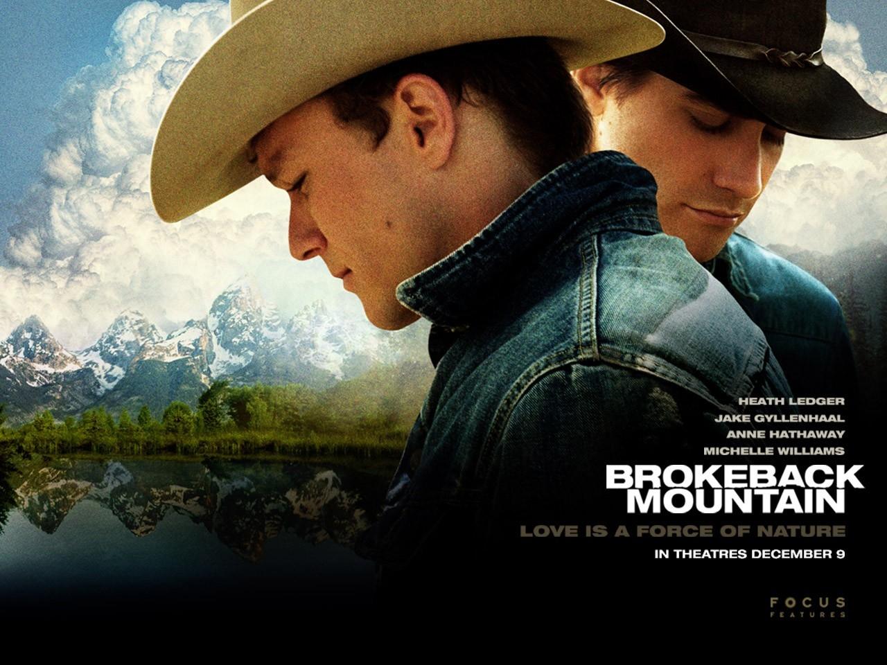Ledger e Gyllenhaal in un wallpaper del film I segreti di Brokeback Mountain