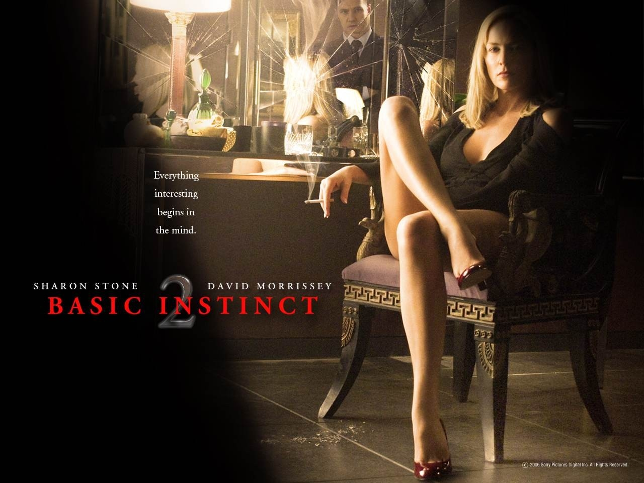 Wallpaper del film Basic Instinct 2 con Sharon Stone