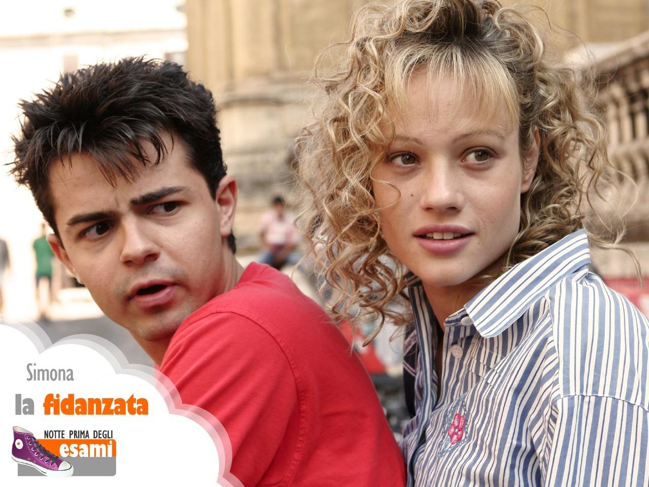 Wallpaper del film Notte prima degli esami con Andrea De Rosa e Chiara Mastalli