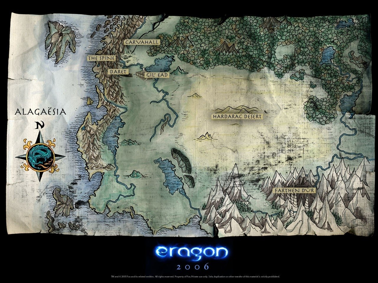 un wallpaper del film Eragon