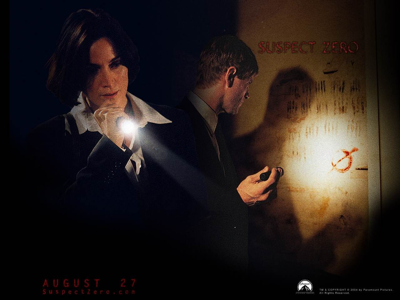 Wallpaper del film Suspect Zero con Carrie Anne-Moss