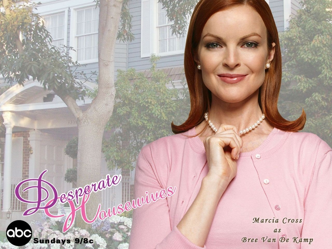 Wallpaper della serie Desperate Housewives con Bree Van De Kamp (Marcia Cross)