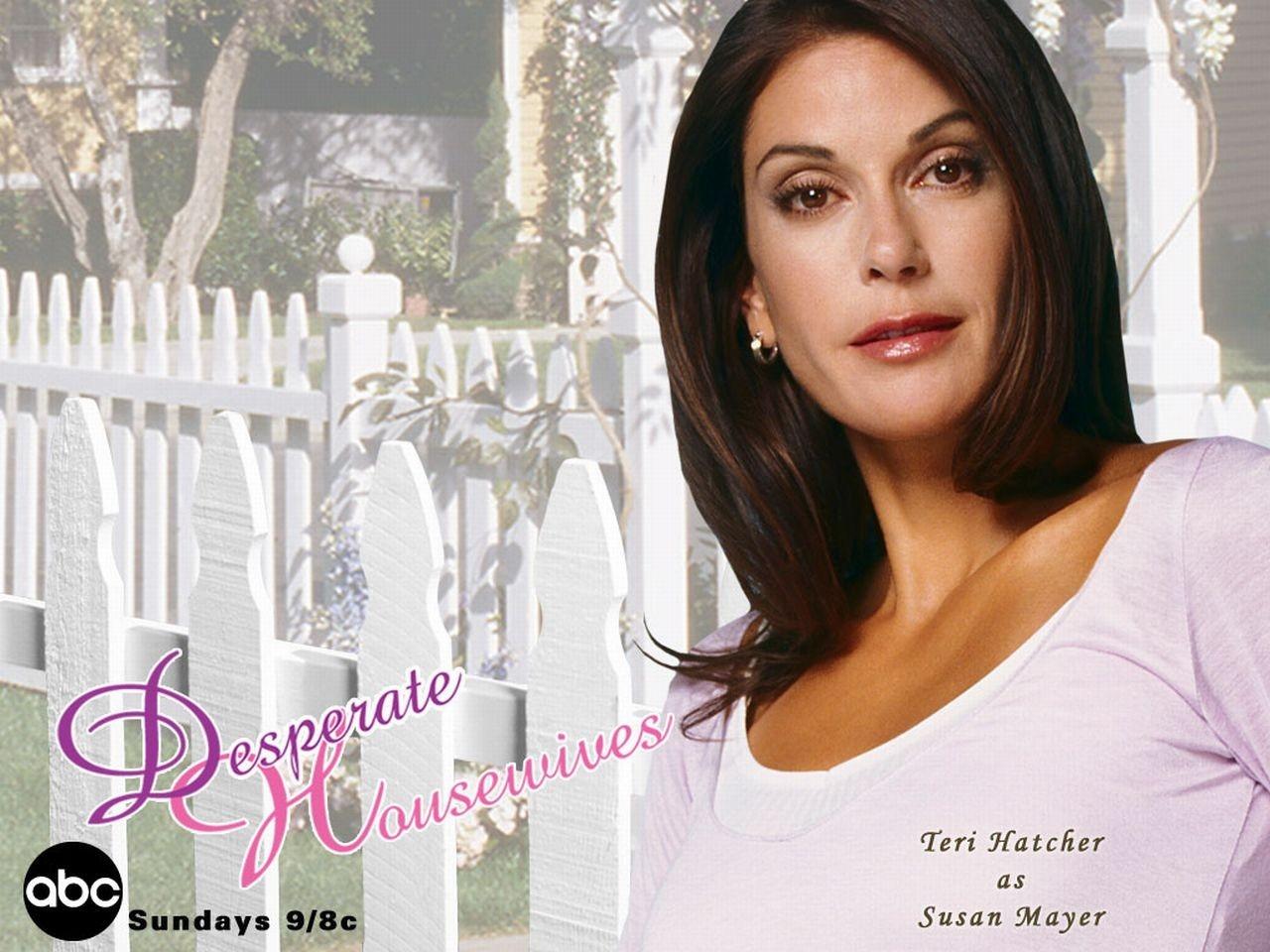 Wallpaper della serie Desperate Housewives con Susan Mayer (Teri Hatcher)