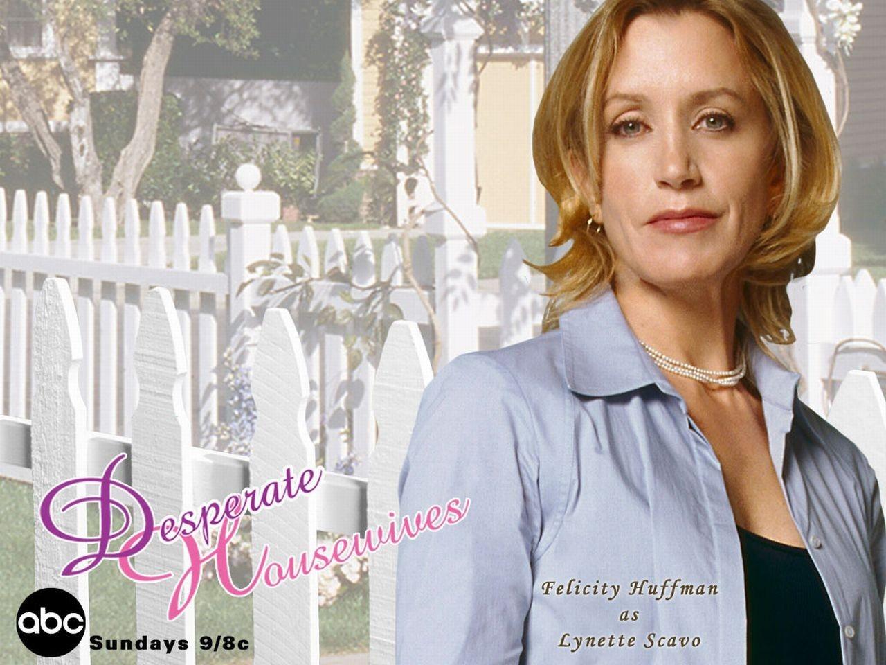 Wallpaper della serie Desperate Housewives con Lynette Scavo (Felicity Huffman)