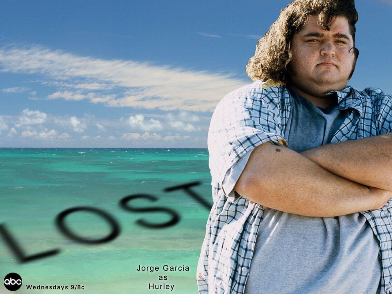 Wallpaper della serie Lost con Jorge Garcia