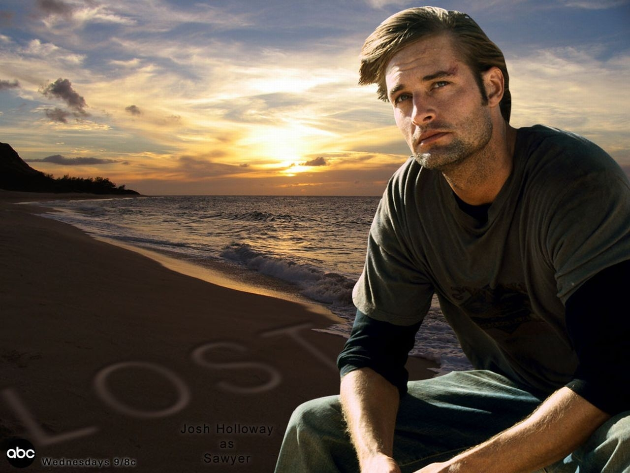 Wallpaper della serie Lost con Josh Holloway