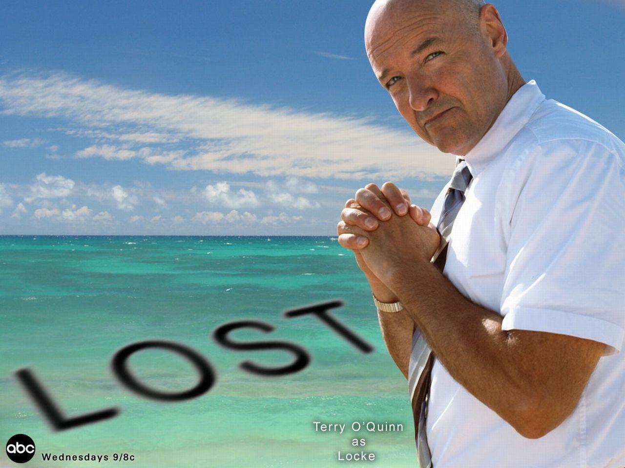 Wallpaper della serie Lost con il personaggio di Locke