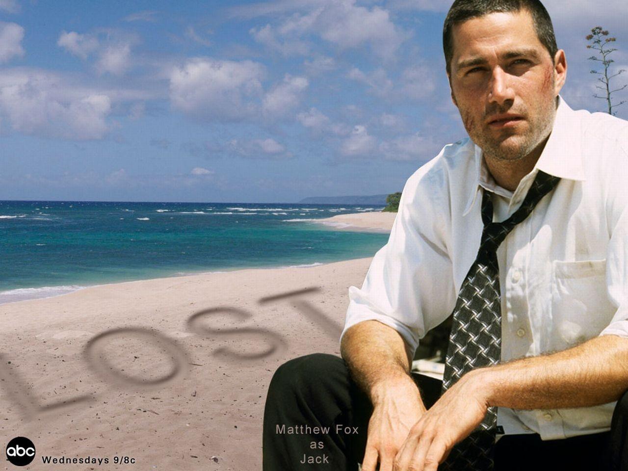 Wallpaper della serie Lost con Matthew Fox