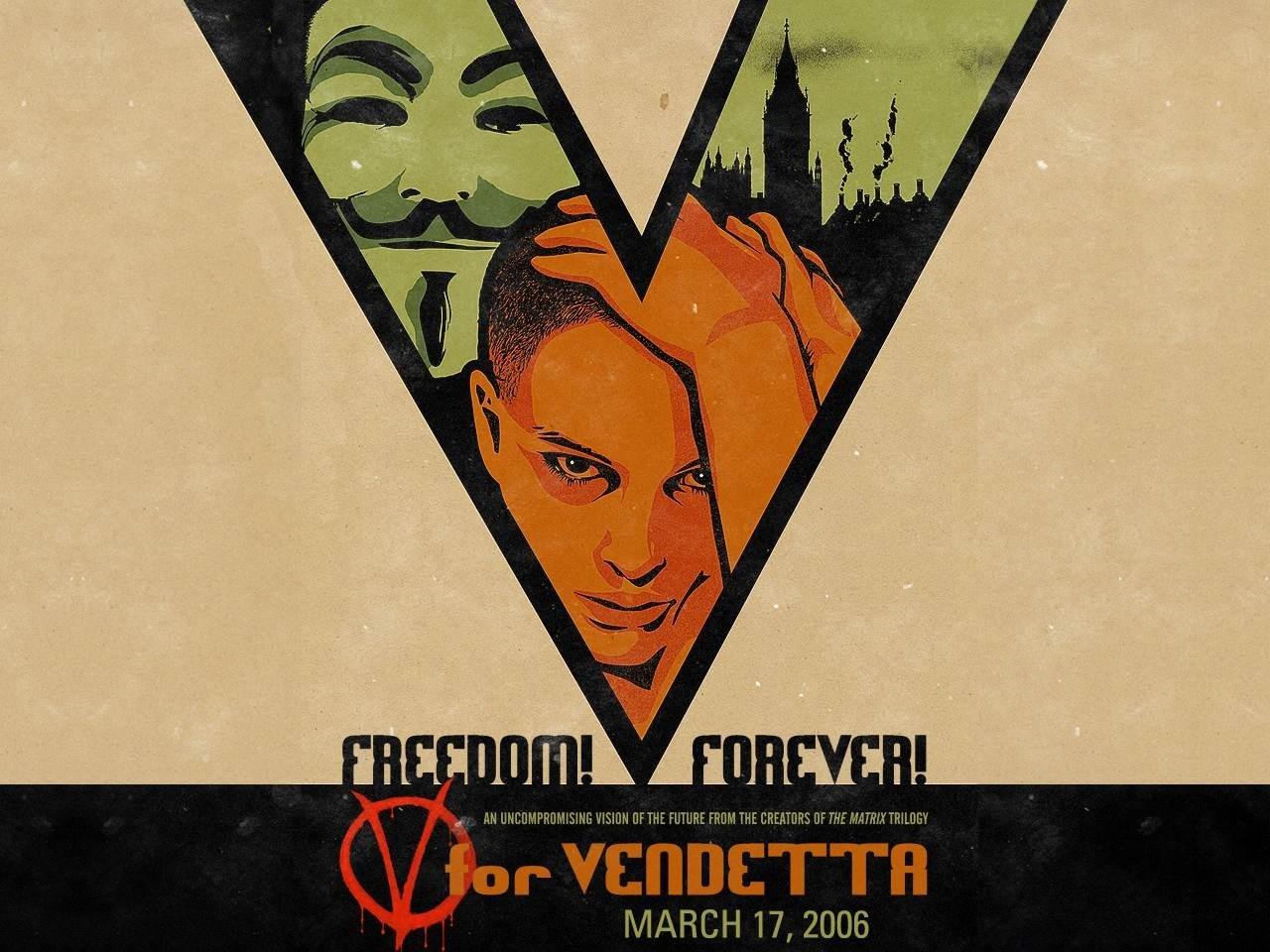 Wallpaper grafico del film V per Vendetta