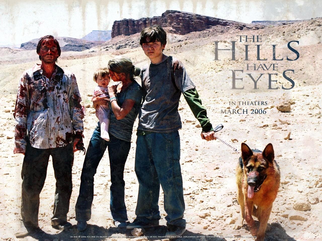 Wallpaper con i protagonisti del film Le colline hanno gli occhi