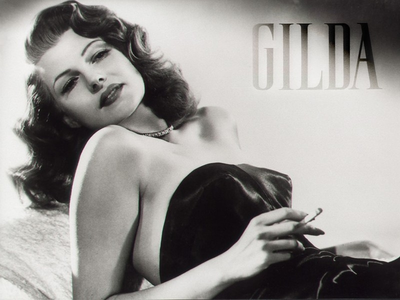 Wallpaper del film Gilda con Rita Hayworth