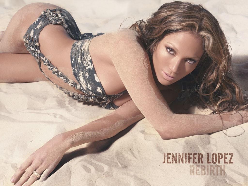 Wallpaper di Jennifer Lopez in spiaggia