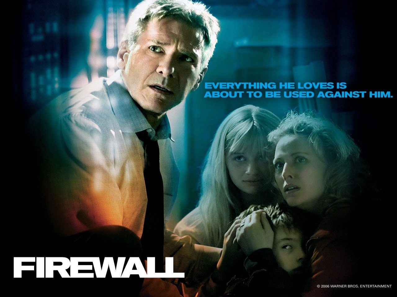 Wallpaper del film Firewall Accesso negato con Harrison Ford