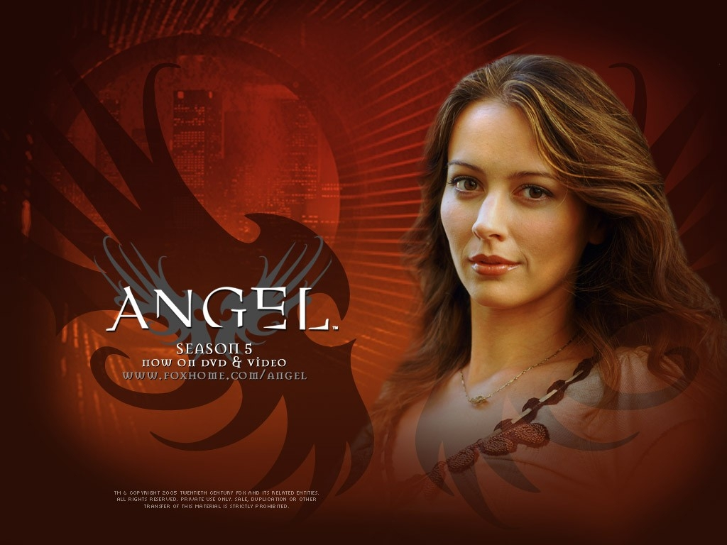 Wallpaper della serie Angel con Amy Acker