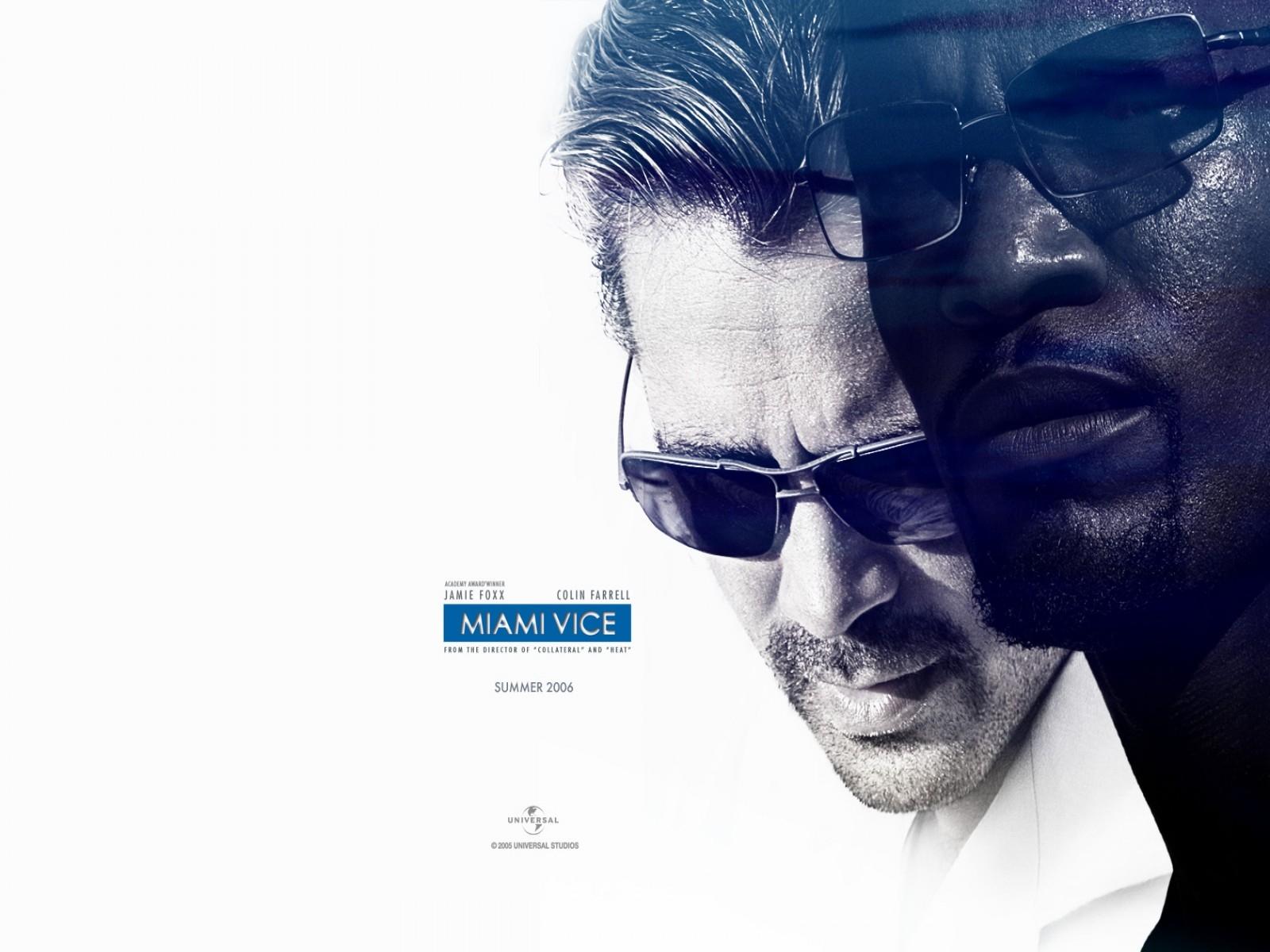 Wallpaper del film Miami Vice con Jamie Foxx e Colin Farrell