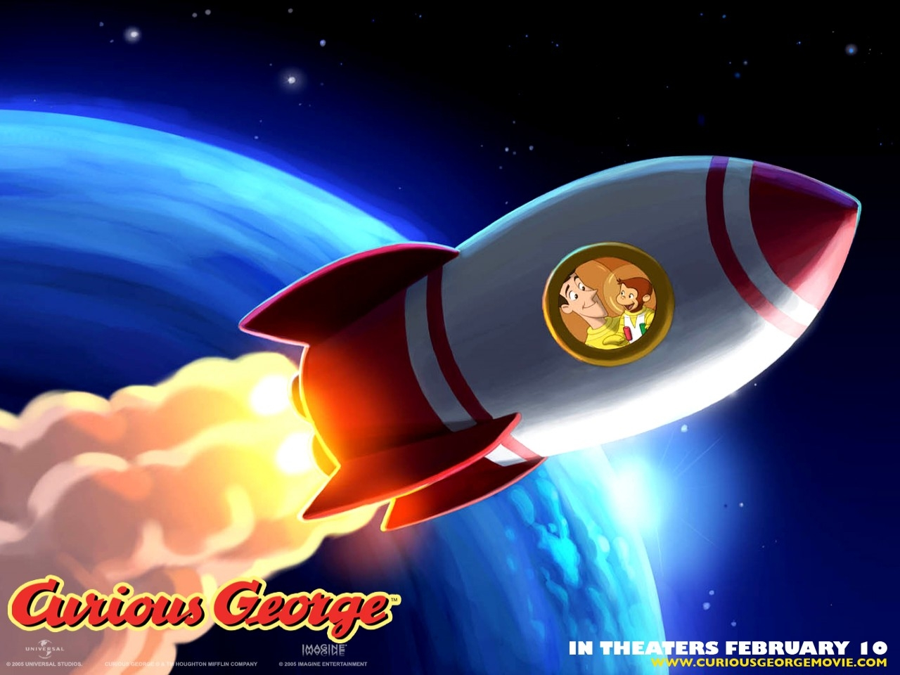 Wallpaper del cartone animato Curioso come George