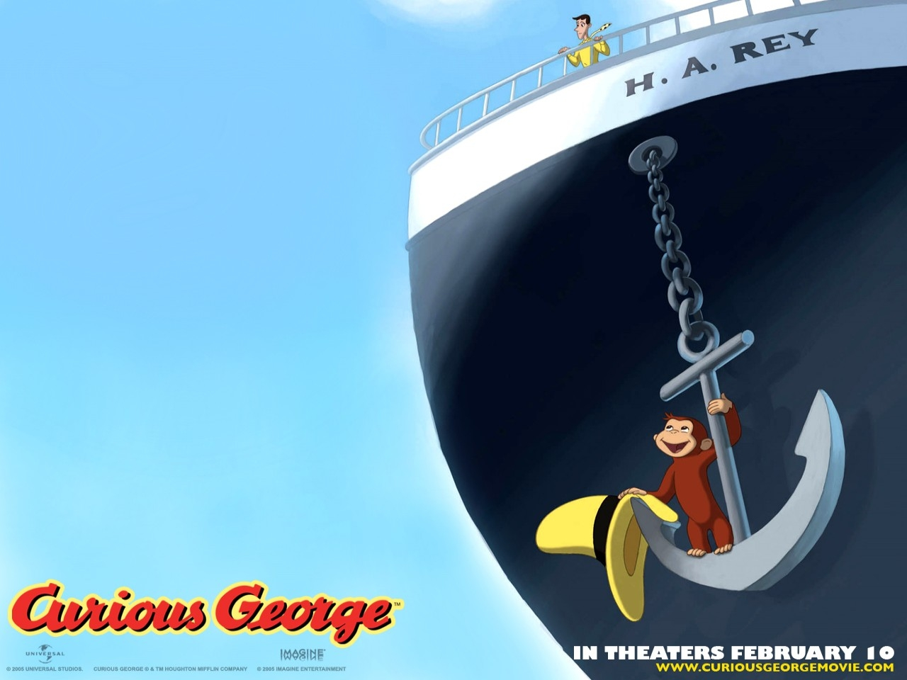 Wallpaper del cartoon Curioso come George