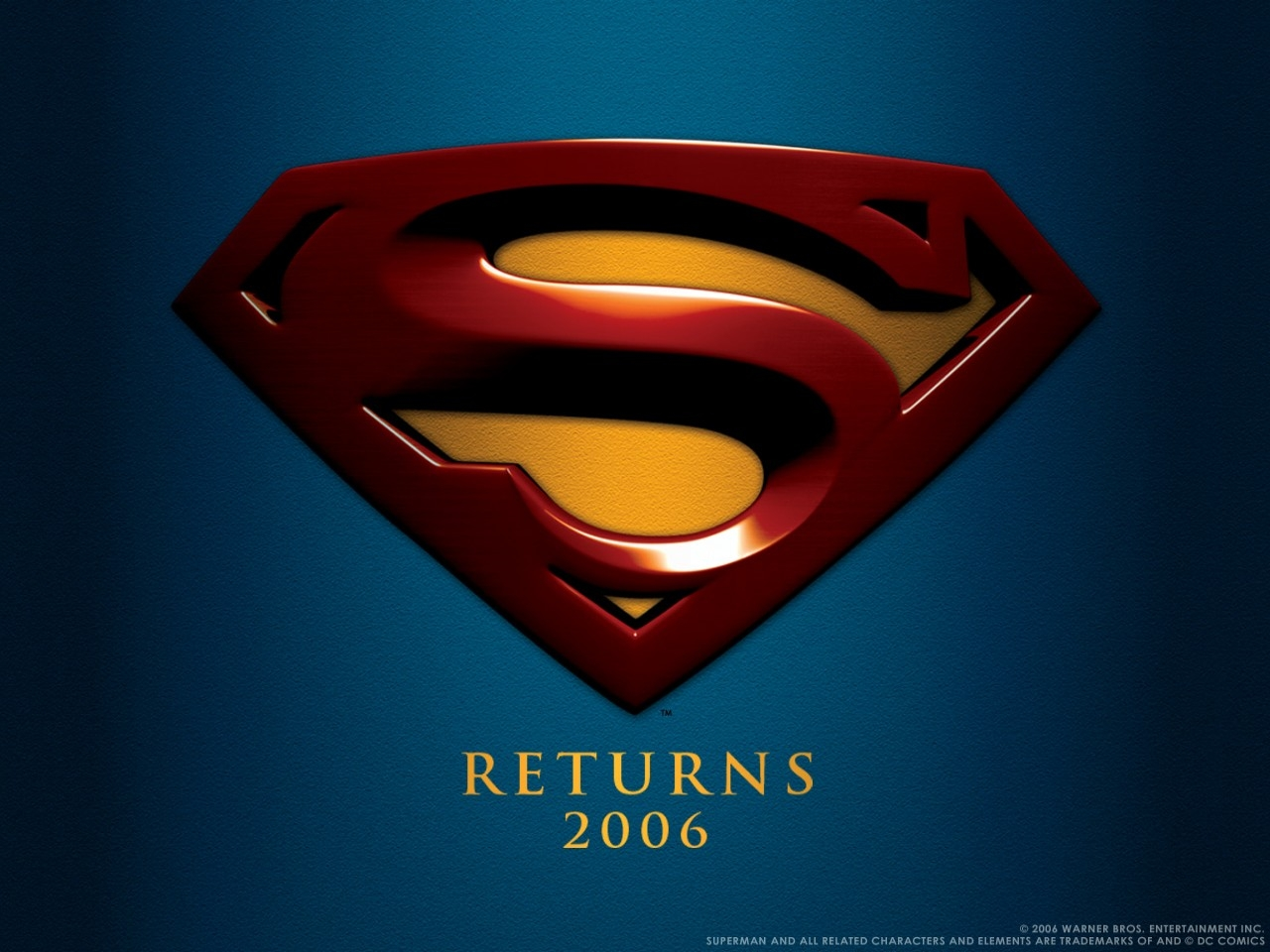 Wallpaper del film Superman Returns con il logo del film