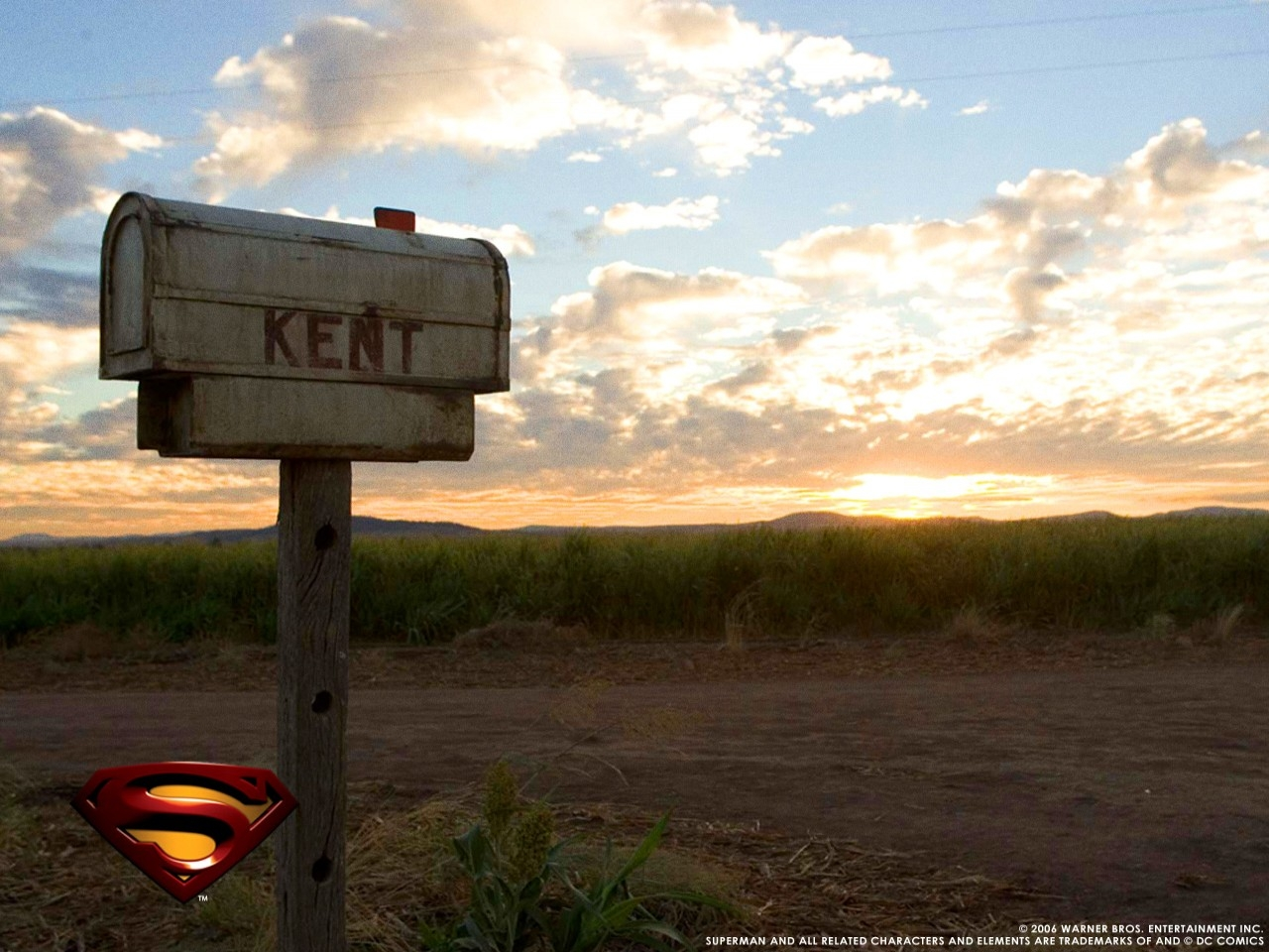 Wallpaper del film Superman Returns con la cassetta della posta dei Kent