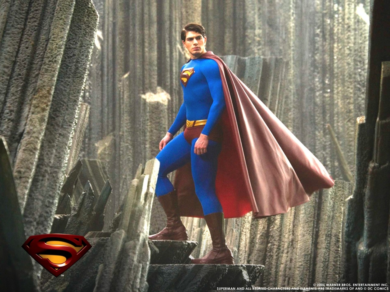 Wallpaper del film Superman Returns con Brandon Routh