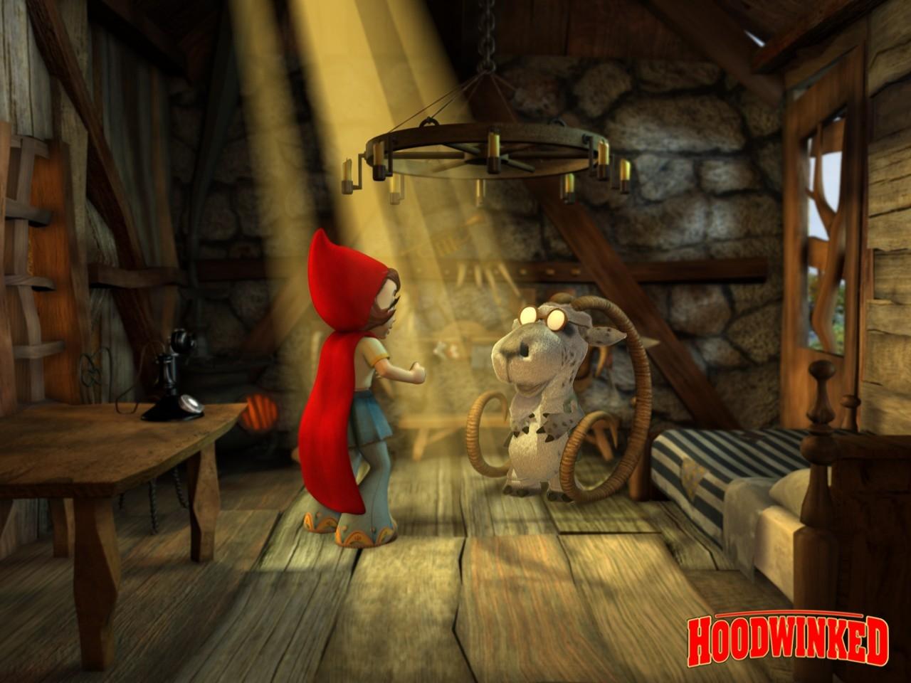 Wallpaper del film Cappuccetto rosso e gli insoliti sospetti