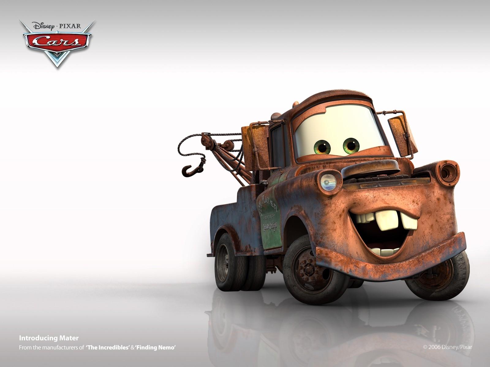 Un wallpaper di Mater del film Cars - motori ruggenti
