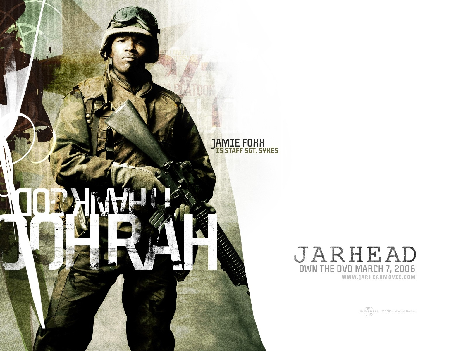 Wallpaper del film Jarhead con Jamie Foxx