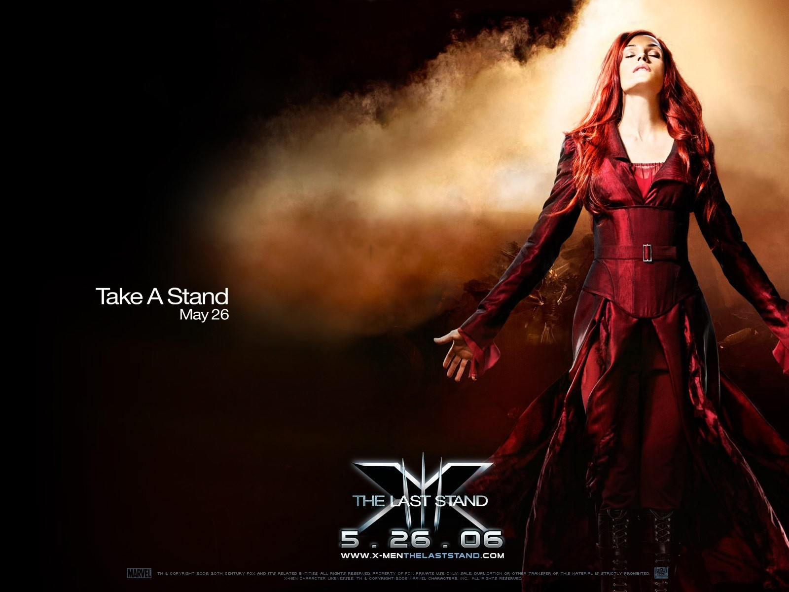 Wallpaper del film X-Men: Conflitto Finale con Famke Janssen