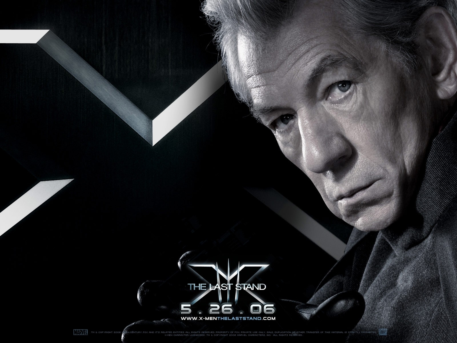 Wallpaper del film X-Men: Conflitto Finale con Ian McKellen