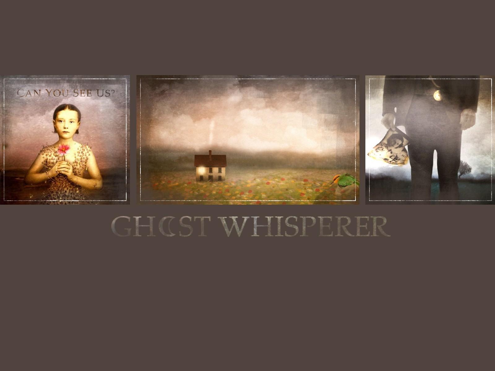Wallpaper della serie Ghost Whisperer con le immagini dei titoli di testa.