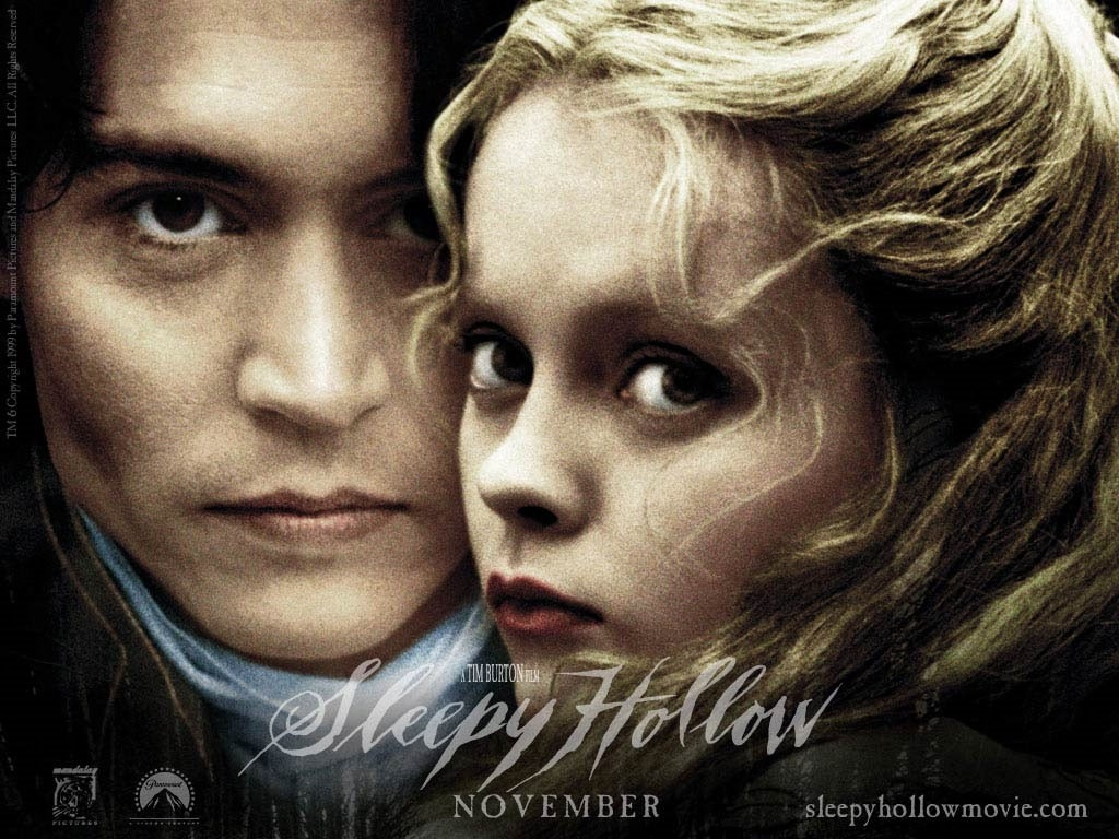 Wallpaper di Johnny Depp e Christina Ricci per il film Il mistero di Sleepy Hollow