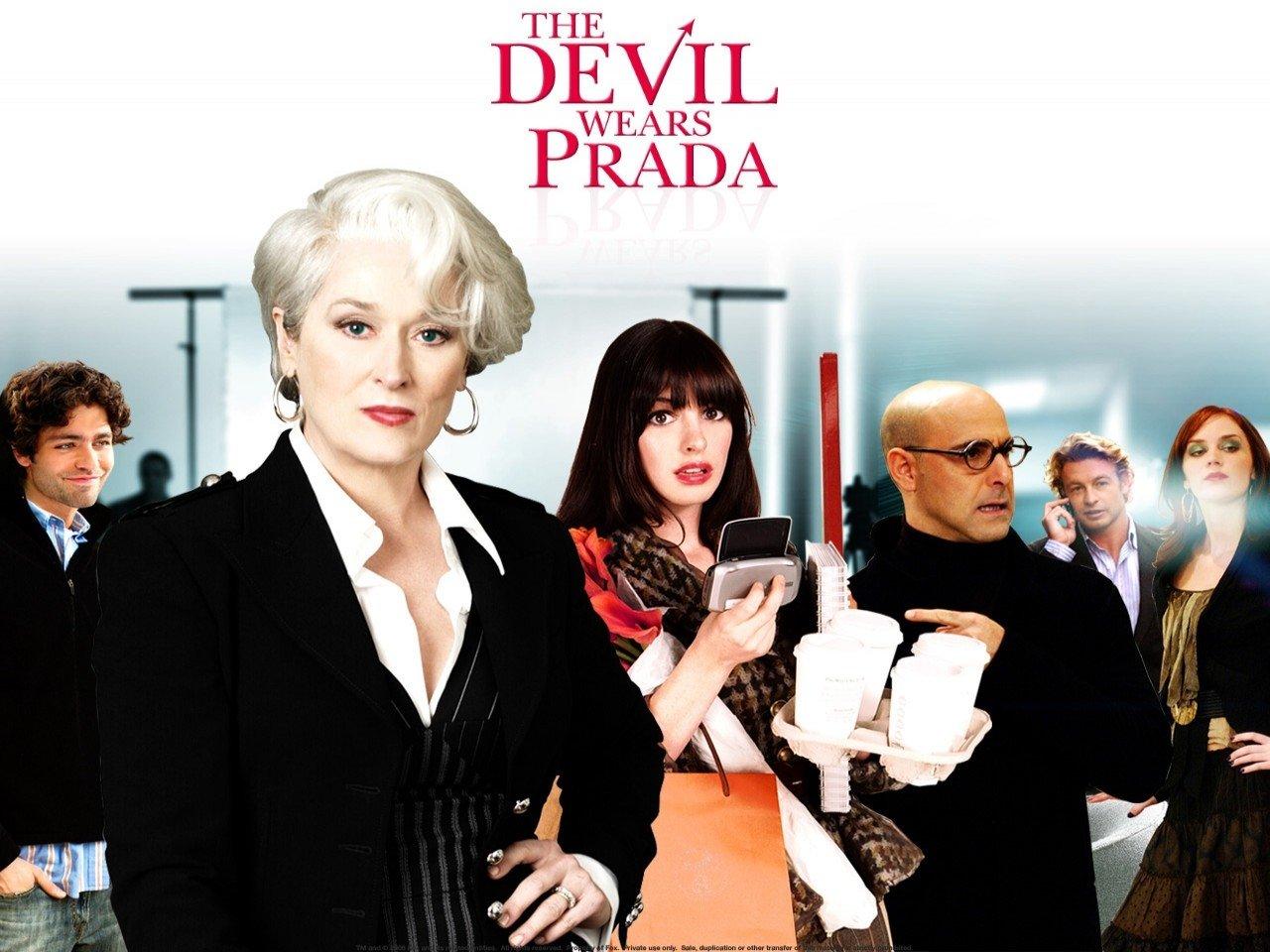 Wallpaper del film Il diavolo veste Prada con i protagonisti