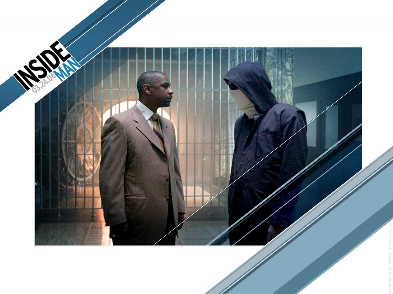 Wallpaper del film Inside Man con Denzel Washington