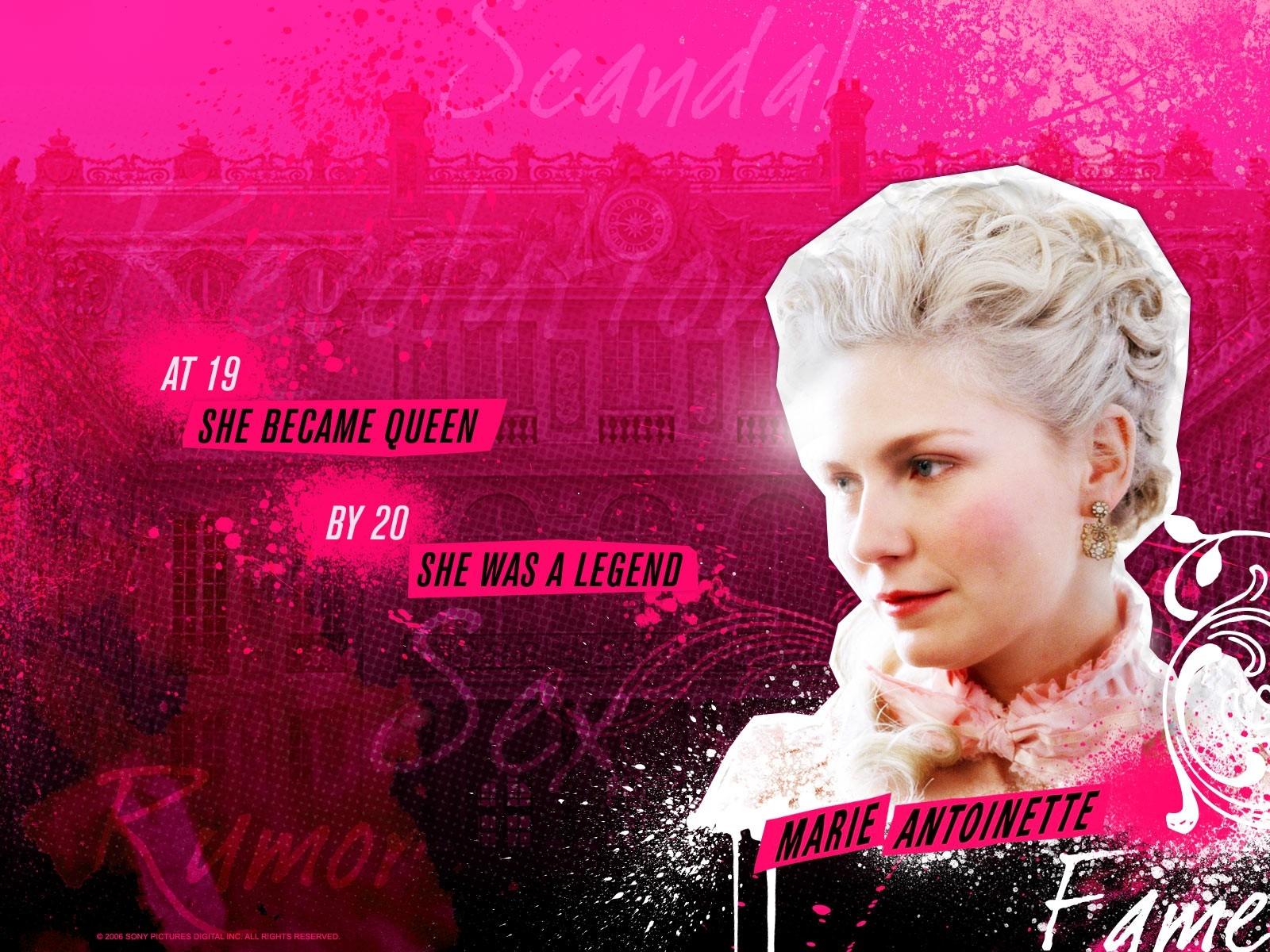 Wallpaper del film Marie Antoinette con Kirsten Dunst nei panni della Regina