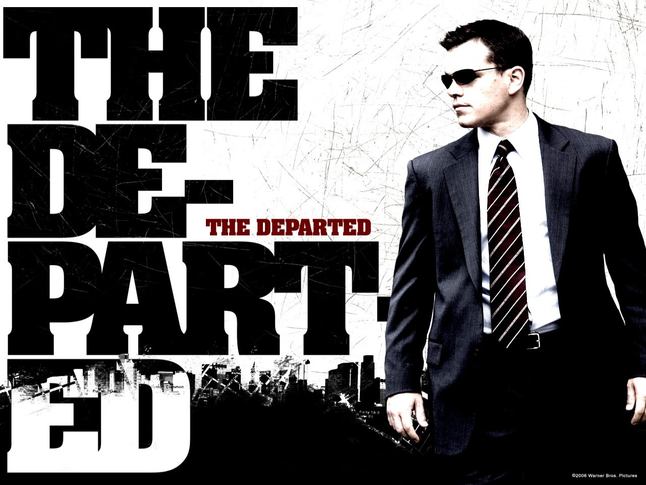 Wallpaper del film The Departed - Il bene e il male con Matt Damon