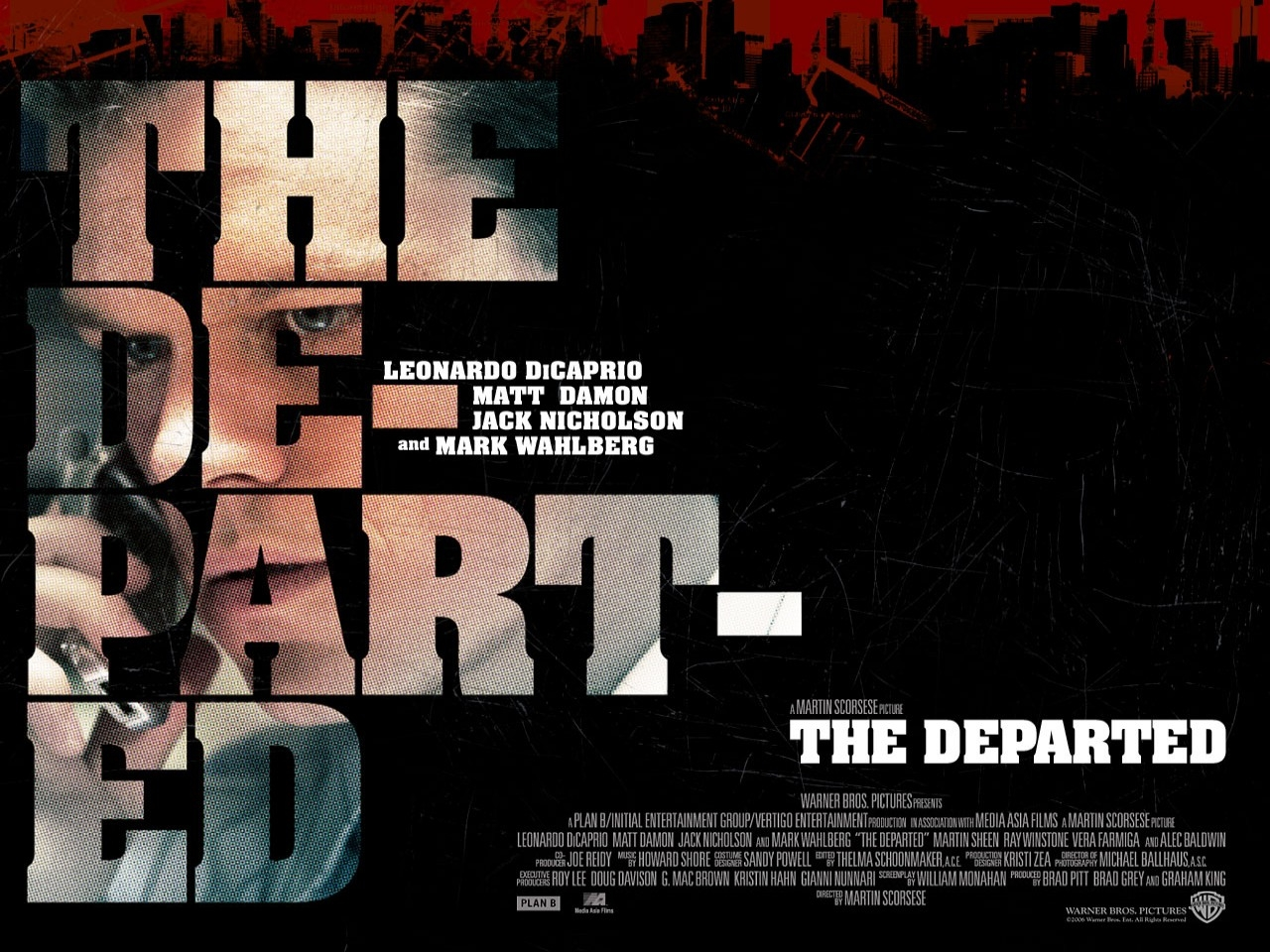 Wallpaper del film The Departed - Il bene e il male con Damon