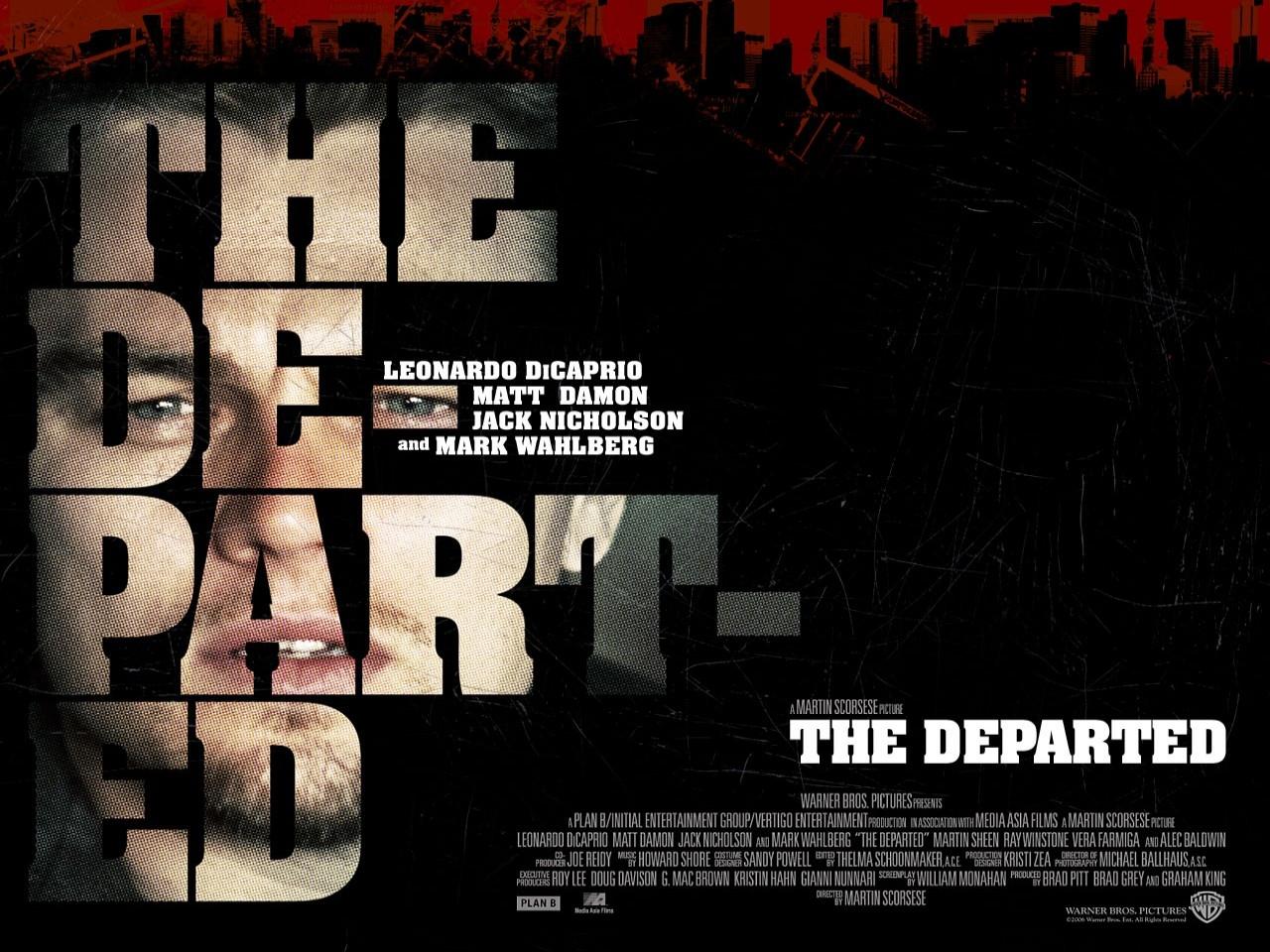 Wallpaper del film The Departed - Il bene e il male con Leonardo DiCaprio