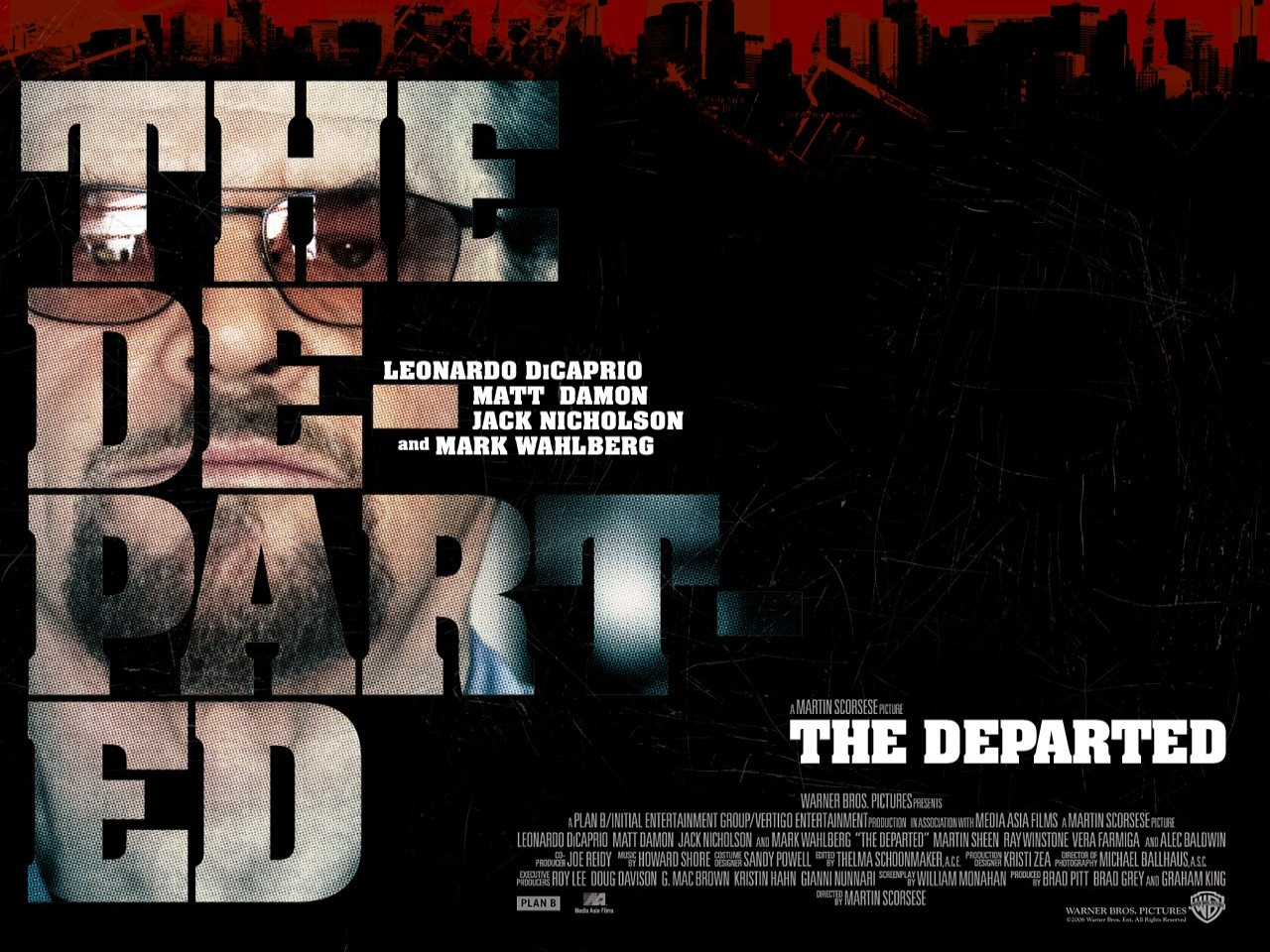 Wallpaper del film The Departed - Il bene e il male con Jack Nicholson