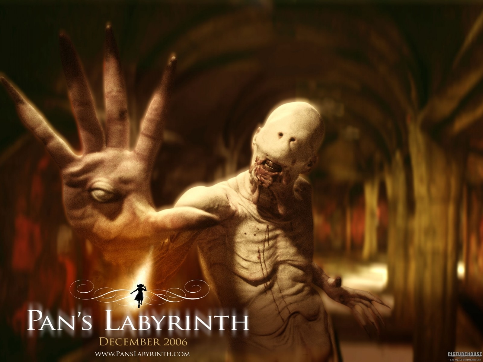 Wallpaper del film Il labirinto del fauno con Doug Jones