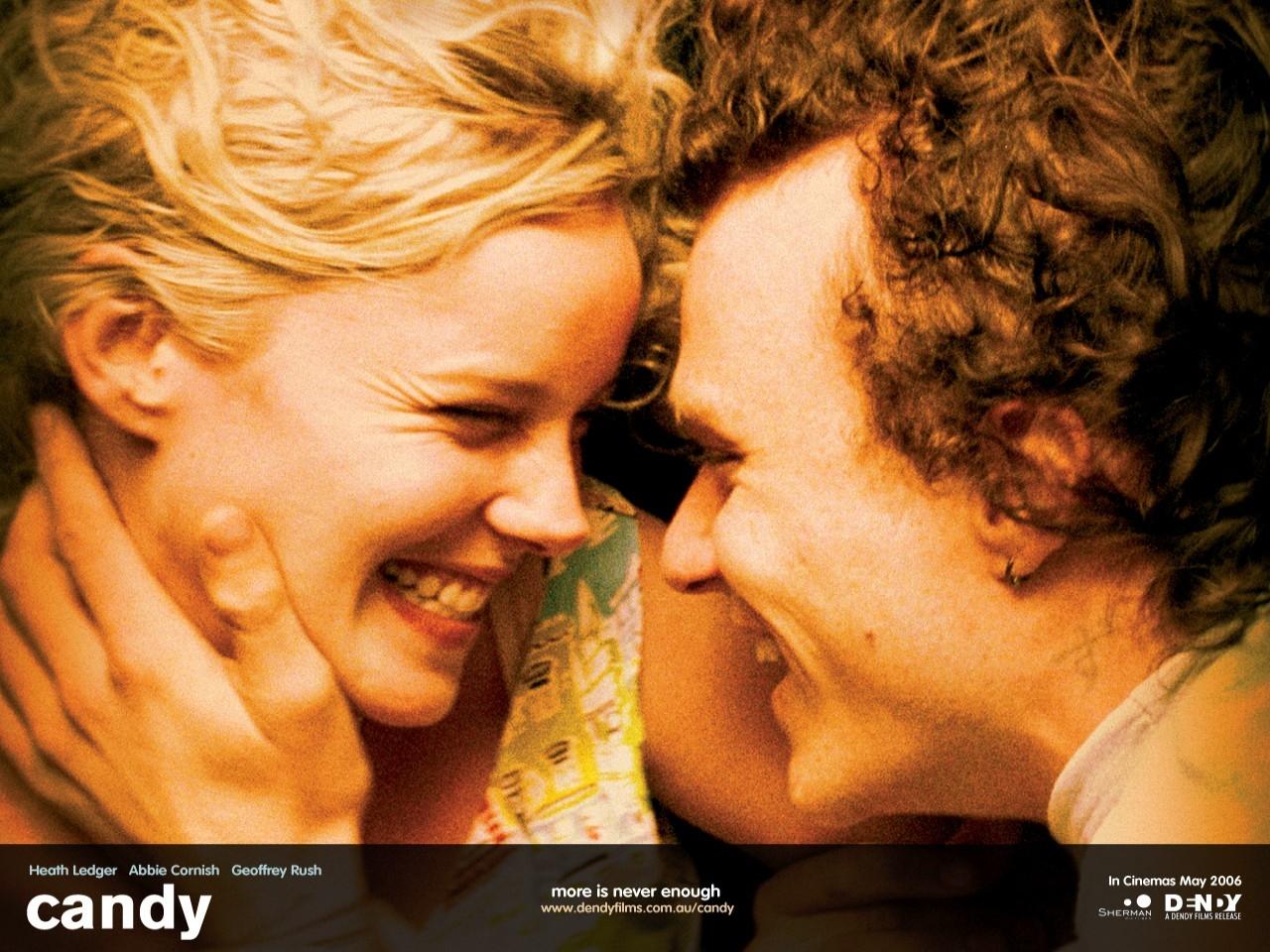 Wallpaper di Abbie Cornish e Heath Ledger nel film Paradiso + Inferno