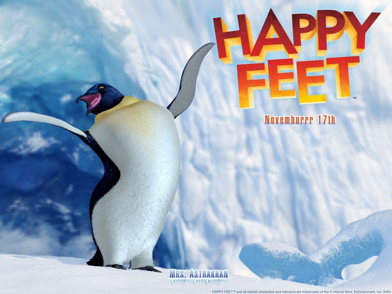 Wallpaper del film Happy Feet diretto da George Miller