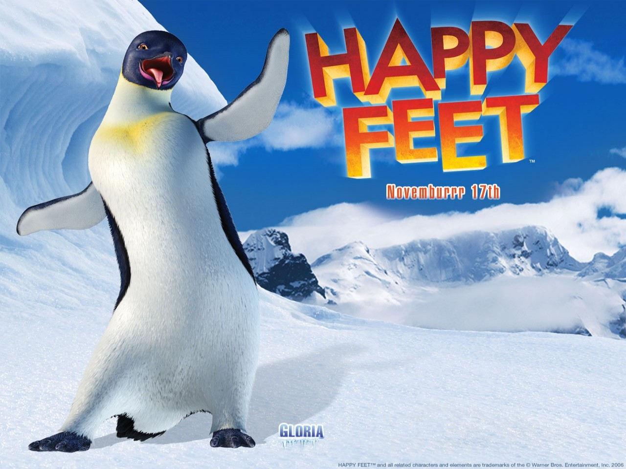 Wallpaper del film Happy Feet diretto da George Miller nel 2007