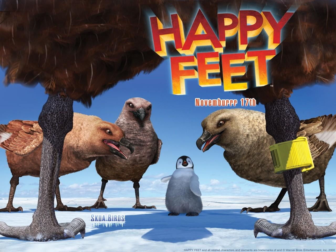 Wallpaper del film d'animazione Happy Feet diretto da George Miller