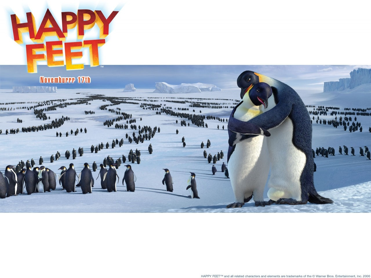 Un tenero wallpaper del film Happy Feet