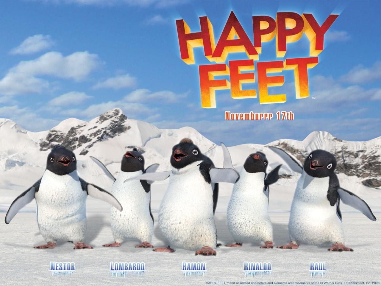 Wallpaper del film Happy Feet diretto da G.Miller