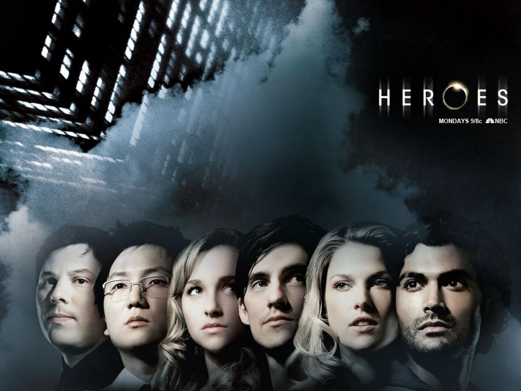 Wallpaper della serie Heroes con i protagonisti
