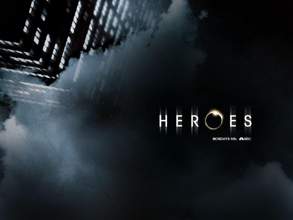 un wallpaper della serie Heroes con i protagonisti