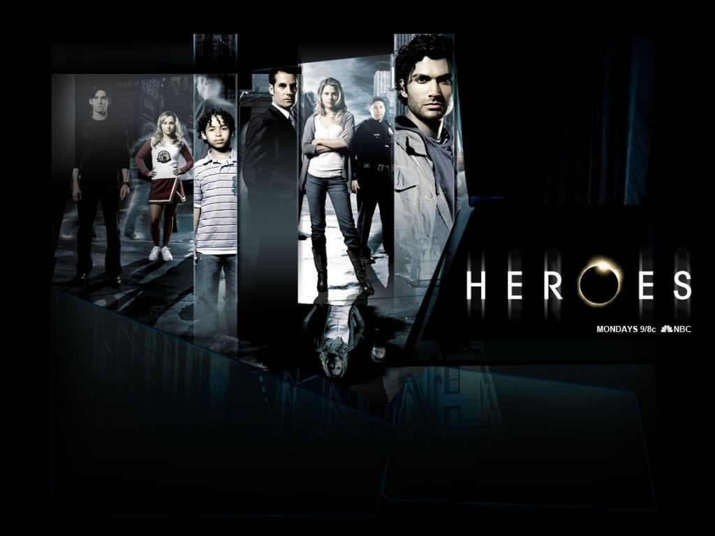 il wallpaper della serie Heroes con i protagonisti