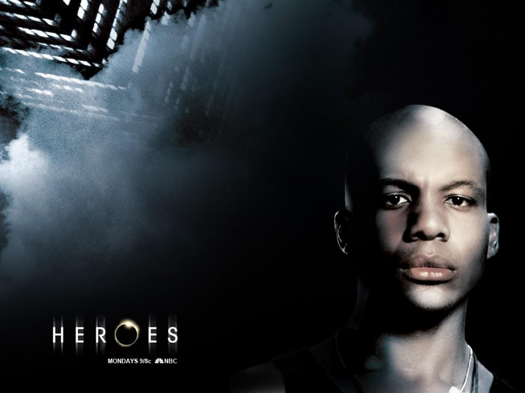 un wallpaper della serie Heroes con uno dei protagonisti