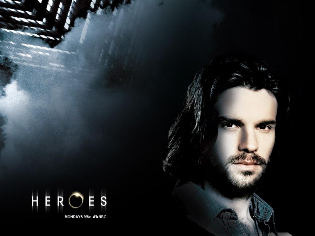 il wallpaper della serie Heroes con uno dei protagonisti